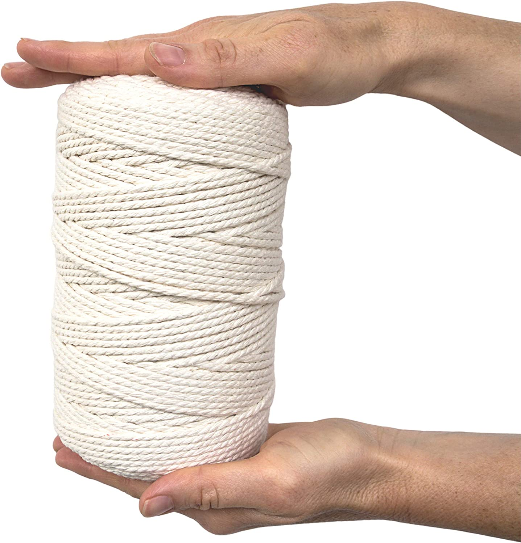 TTSKY Macrame National uniform Quantity limited free shipping Cord 3mm x Cotton Natural Rope 220Yards