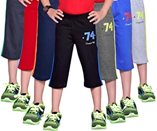 GREENWICH Boys' Regular Fit 3/4 Pant (Pack of 7)
