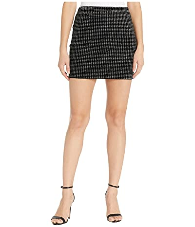 ASTR the Label Countdown Skirt (Silver Houndstooth) Women