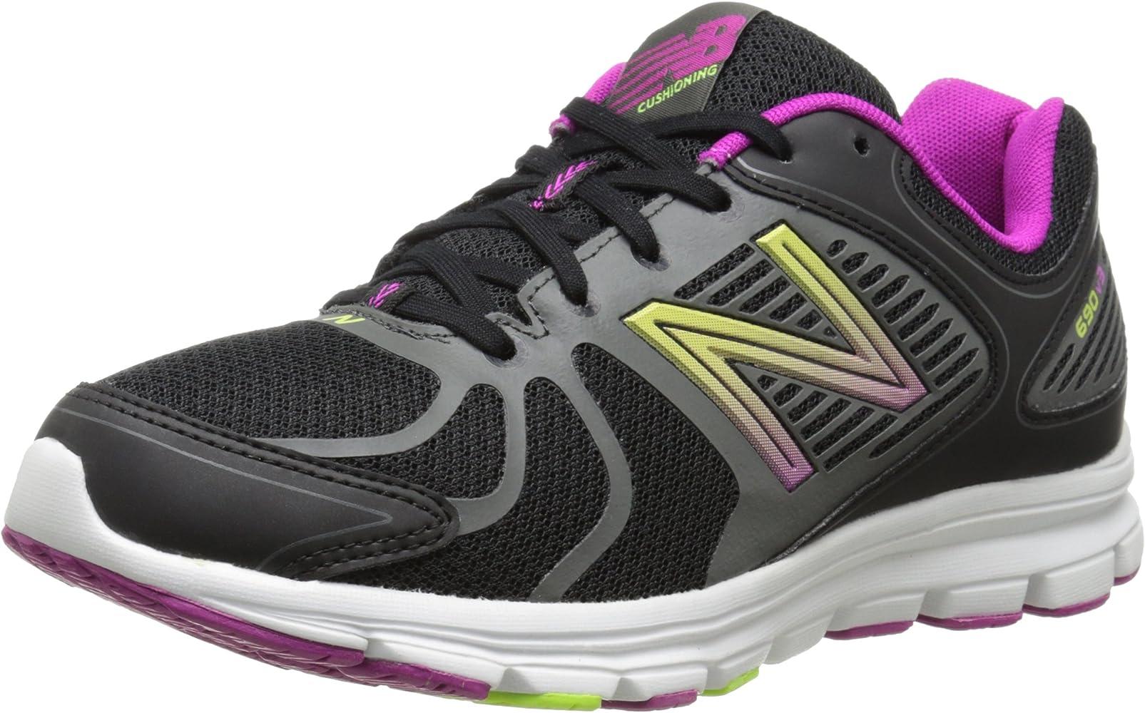 Amazon.com | New Balance Women's 690 V3 Running Shoe, Black/Purple ...