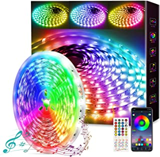 50ft/15m LED Strip Lights, Music Sync Color Changing Led Lights Strip Bluetooth Wireless LED TV Backlight with APP Control...