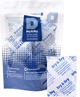 Dry & Dry 10 Gram [10-2000 Packs] Premium Pure & Safe Silica Gel Packets Desiccant Silica Gel Silica Gel Packs - Rechargea...
