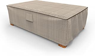 Budge P5A36PM1 English Garden Patio Ottoman Coffee Table Cover, Large, Two-Tone Tan