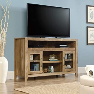 "Sauder Dakota Pass Entertainment/Fireplace Credenza, for TVs up to 60"", Craftsman Oak"