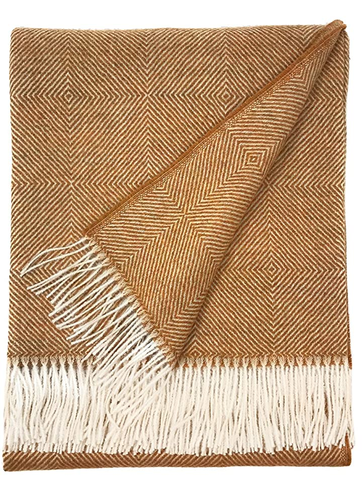 Dynasty Throw Blanket | 100% Pure Baby Alpaca Wool ? Hypoallergenic, Soft & Cozy ? Ethically Sourced | Softer & Warmer Than Wool (St James Ave.)