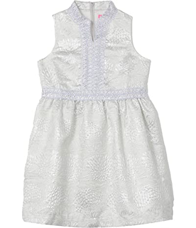 Lilly Pulitzer Kids Mini Franci Dress (Toddler/Little Kids/Big Kids) (Seaside Grey Full Bloom Brocade) Girl