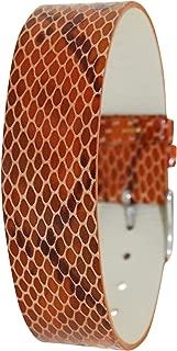 Moog Paris Full Grain Eclectic Calf Leather Bracelet for Women, Pin Clasp, 18mm Band