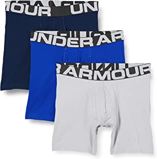 Under Armour Men's Charged Cotton 6in 3pk Boxer Jock