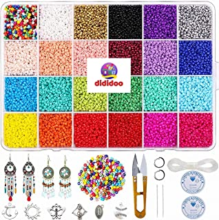 DIDIDOO Beads Kit Jewelry Making Kit 14400pcs 2mm Seed Beads For Kids DYI Activity, Bracelets Necklaces With 24 Multicolor...