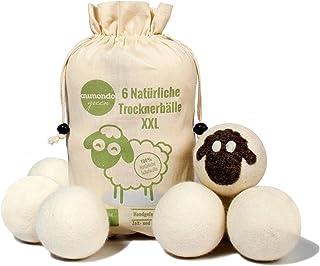 aumondo Drogerballen voor wasdrogers - 6 XXL extra grote vilten ballen van schapenwol, de natuurlijke wasverzachter. Ideaa...