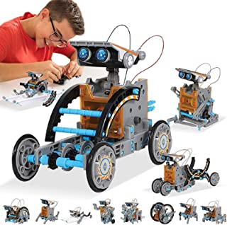 MAN NUO HOMOFY STEM Toy Solar Robot Kit 12-in-1 Learning Science Building Toys|Educational Science Kits Toys-Powered by So...