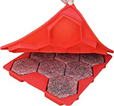 Shape+Store Burger Master 8-in-1 innovatieve burgerpers, 8-patty, rood