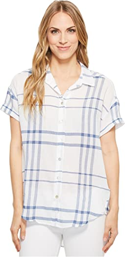 White/Blue Plaid