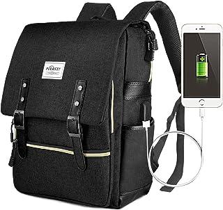 Zaino Laptop, Puersit Zaino PC Donna 15.6 Pollici Zaino Porta PC Zaino Casual con Caricatore USB per università o scuola B...