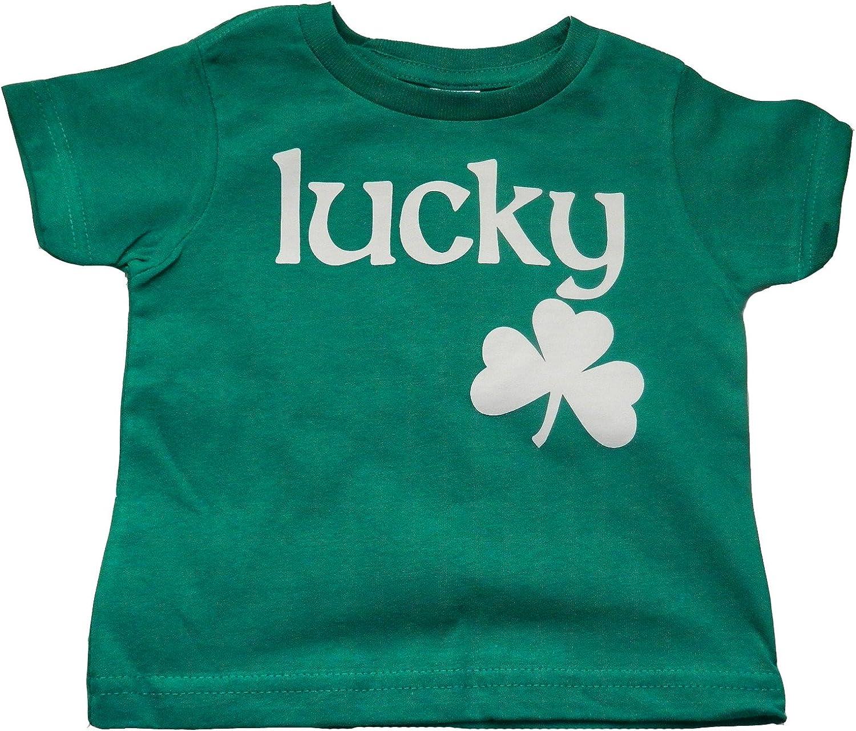 Custom Kingdom Baby Boys/Girls Lucky Irish Shamrock T-Shirt Green