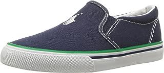 Polo Ralph Lauren Kids Boys' MOREES Sneaker, Navy, 10.5 Medium US Little Kid