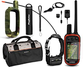 Garmin Alpha 100 TT15 Combo Hunting Armor Bundle w/PlayBetter Portable Charger, Silicone Case, Screen Protectors & Tether   Garmin Field Bag, Satellite (Camo Case)