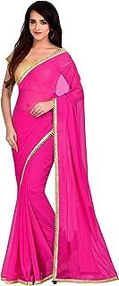 Viva N Diva Saree for Women`s Fuchsia Pink Color Georgette Saree