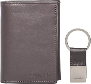 Calvin Klein 79027 Tri-fold with Key Pob Wallet for Men - Leather