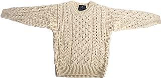 Childs Irish Merino Wool Crew Cut Sweater