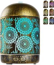 GeeRic Aromadiffuser, 300 ml, luchtbevochtiger, ultrasone metalen vernevelaar, luchtbevochtiger, aromatherapie, oliën, geu...