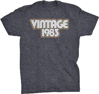 36th Birthday Gift T-Shirt - Vintage 1983 Retro Stripes
