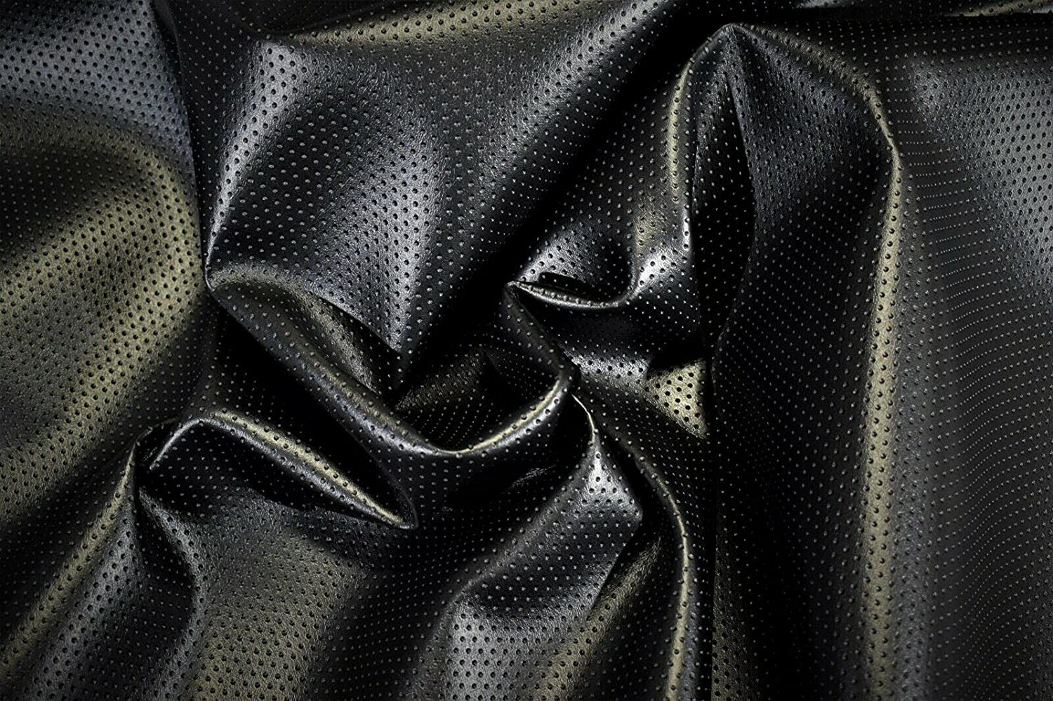 Fabric 10 store Yards -Marine Vinyl Black Ca Outdoor Perforated Challenge the lowest price of Japan ☆