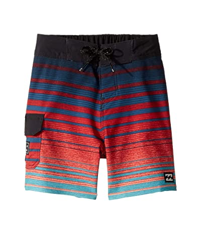Billabong Kids All Day Stripe Pro Boardshorts (Toddler/Little Kids) (Foam) Boy