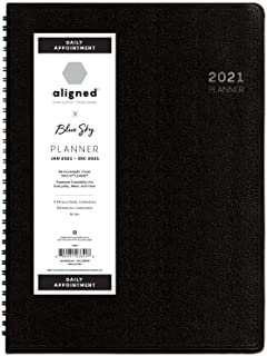 $34 » Blue Sky Aligned 2021 Daily Appointment Planner, 4 Person Daily Calendars, Heavyweight Cover, Semi Concealed Wire Binding,...