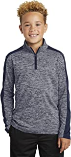 Boy's PosiCharge Electric Heather Colorblock 1/4-Zip Pullover