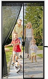 CINKEE Upgraded Magnetic Screen Door Fits Doors up to 38