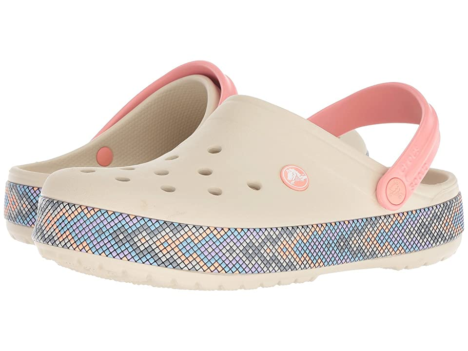 Crocs Crocband Gallery Clog (Stucco/Melon) Clog Shoes