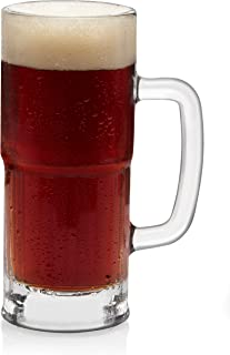 Libbey Craft Brews Lager Stein Beer Glasses, 22-ounce, Set of 4