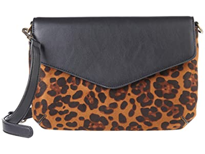 San Diego Hat Company Printed Faux Suede Smooth PU Leather Crossbody w/ Magnetic Closure Removable Strap (Multi) Handbags