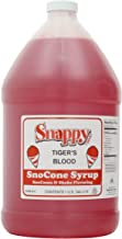 Snappy Popcorn Snow Cone Syrup Gallon, Tigers Blood, 11 Pounds