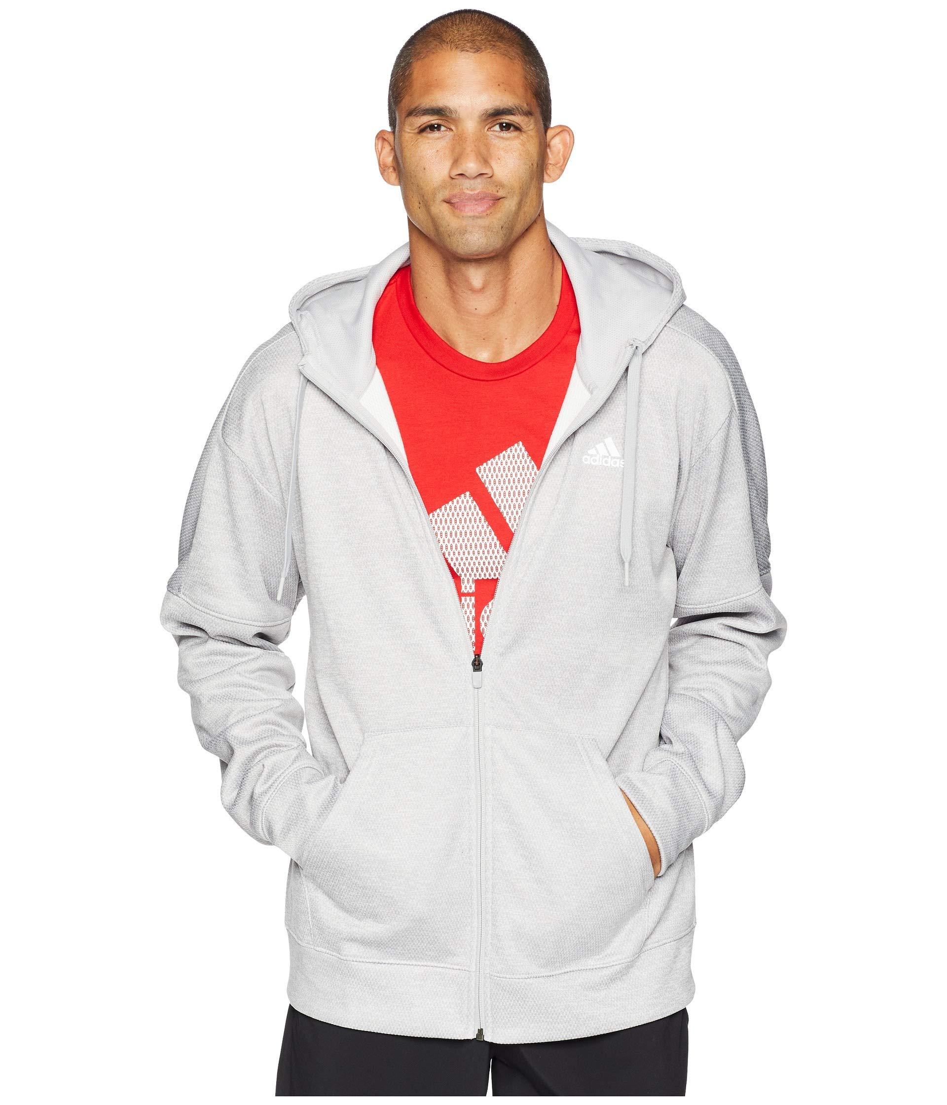 Hoodie Issue Two Team Fleece Grey Adidas Full Metallic Zip qX5wnp4z