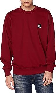 Diesel Men's S-GIRK-K12 Mens Sweatshirt Long Sleeve Crew Neck Light Deep Red