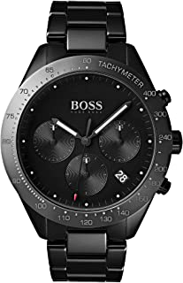 Hugo Boss Men's Black Dial Stainless Steel Band Watch - 1513581
