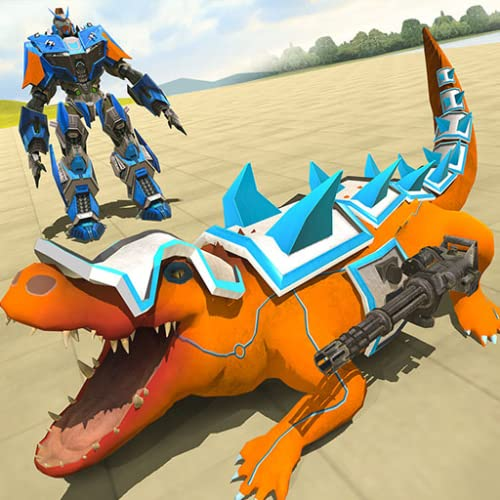 Roboter-wirklicher Krokodil-Stadt-Angriff
