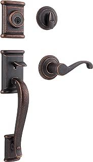 Kwikset Ashfield Single Cylinder Handleset w/Commonwealth Lever featuring SmartKey in Rustic Bronze