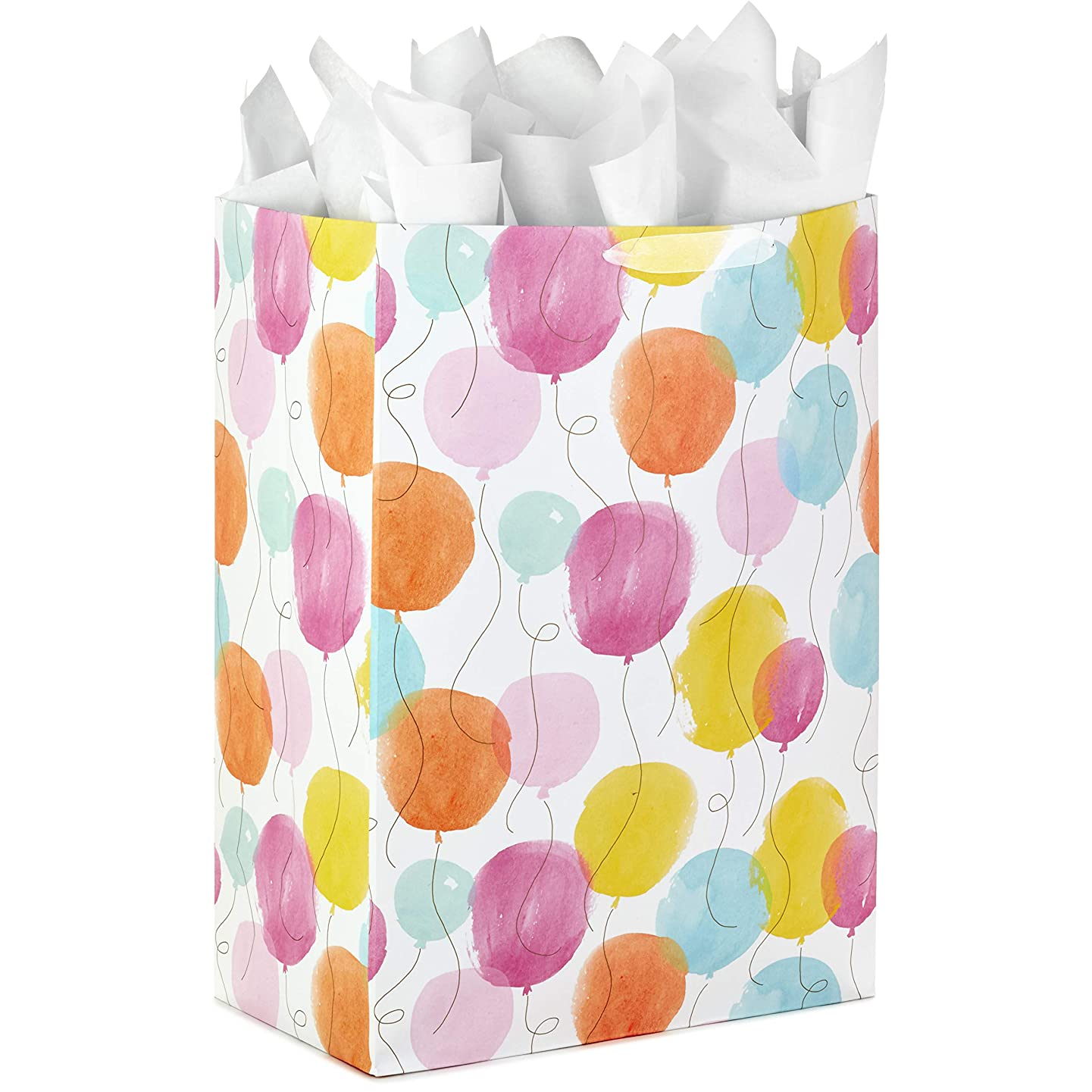 Hallmark Oversized Gift Bag with Tissue Paper for Birthdays, Anniversaries, Graduations, and Everyday Celebrations (Balloons)