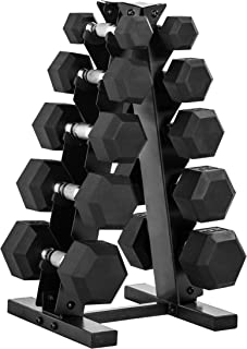 CAP Barbell 150-Pound Dumbbell Set with Rack, Multiple Options Available
