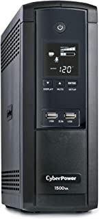 CyberPower BRG1500AVRLCD Intelligent LCD UPS System 1500VA/900W 12 Outlets AVR Mini-Tower 5-Year Warranty
