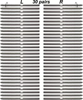 Lulultn 30 Pairs T316 Stainless Steel Right&Left Handed Thread Swage Lag Screws for 1/8