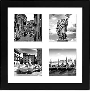 Americanflat 10x10 Collage Picture Frame - Displays 4 4x4 Portrait Pictures with Mat
