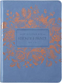 Strength & Dignity Handy-Sized LuxLeather Journal - Proverbs 31:25