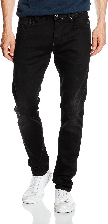G-Star Raw Mens Revend Super Slim-Fit Jean In Black Print Stretch Denim