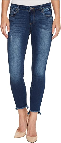 Connie Ankle Skinny w/ Step Fray Hem in Engaged
