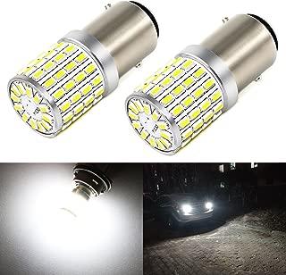 Phinlion 2000 Lumens LED 1157 Bulbs Super Bright 3014 72-SMD 2357 7528 BAY15D 1157 LED Bulb for Backup Reverse/Turn Signal/Brake Stop Tail Lights, 6000K Xenon White
