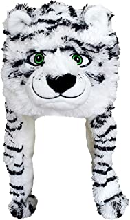 ZooPurr Pets Unisex Plush Animal Hats with Poms | Warm, Soft, and Cozy